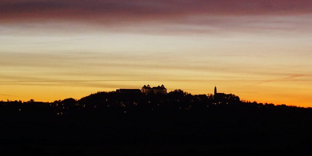 Abendstimmung am Schloss Augustusburg